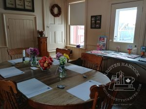 Make & Take table at my Open House