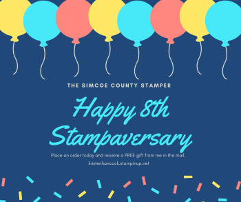 Celebrate my 8th Stampaversary with me today!
