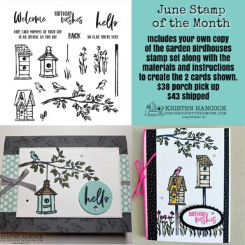 Garden Birdhouses June Stamp of the Month